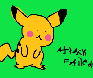 PIKACHU used Sky Attack! (But, it failed!)