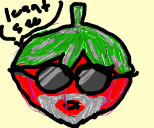 old and blind tomato