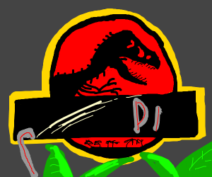 The Jurassic Park logo, but with no text