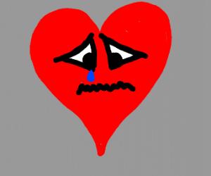 A sad heart