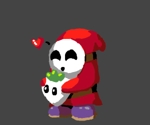 Shy guy loves his turnip