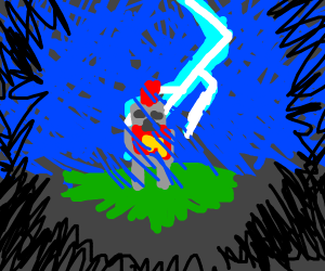 Knight in a storm
