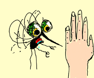 Mosquito wants the hand...badly