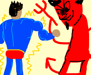 Superman vs the devil