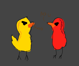 two birds insulting each other