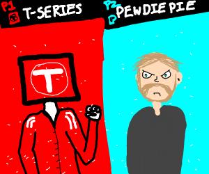 pewdiepie vs tseries. make your choice