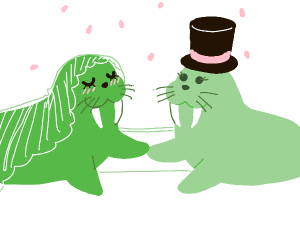 a walrus wedding