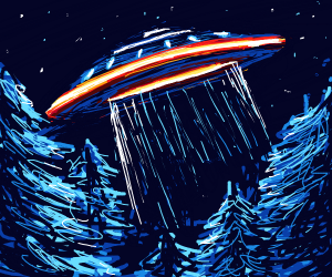 UFO in a forest