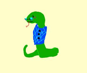 A snake in a vest
