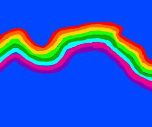 A messy rainbow