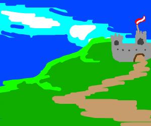 Castle on a mountaintop