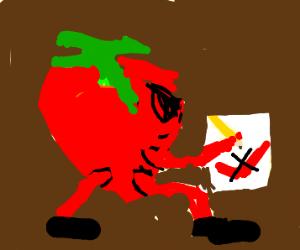 Angry strawberry writes to Nike