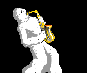 Ghost Playing the Saxaphone
