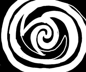 black and white hipnotic spiral
