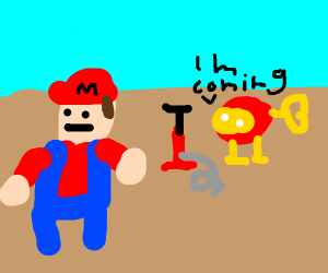 Mario enters the realm of Dig Dug.