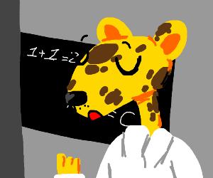 Professor Cheetah lectures class