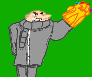 Gru has the power of the infinity gauntlet