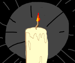 A candle melting