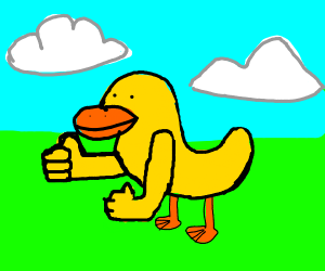 Duck with arms