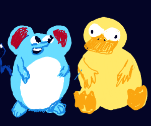 Marill and Psyduck as Disney Characters