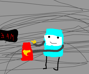 BMO eats shredded cheese from the bag at 3 AM