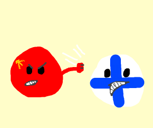 Communism punching a guy in the face