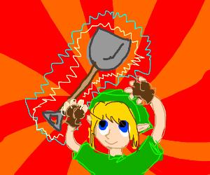 Link found a shovel