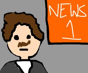 A literal news anchor