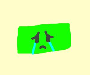 Sad green rectangle