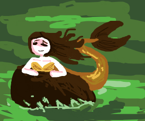 mermaid on a r o ck