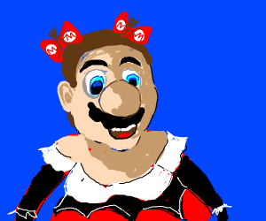 mario cosplays at an anime convention