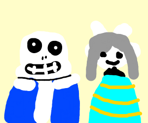 Tem and Sans From Undertale smiling