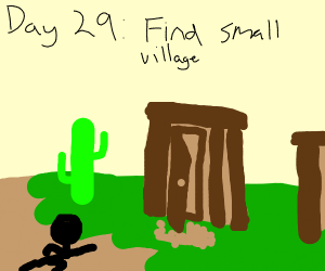 Day 28: got up and tried to escape the desert