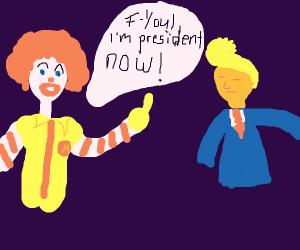 ronald mcdonald vs donald trump