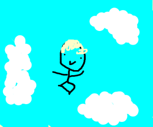 Small kid on the sky