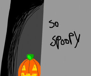 Pumpkin in creepy alleyway
