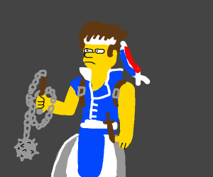 richter (castlevania) is now in the simpsons