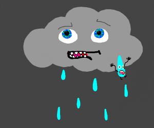 Big raindrop refuses to fall