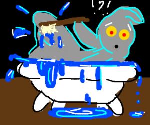 ghost in a bathtub