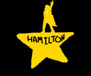 Hamilton the musical logo