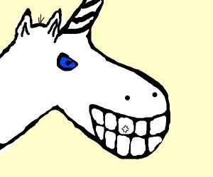 Unicorn has nice teeth