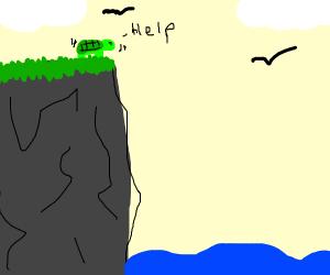 Turtle afraid of heights