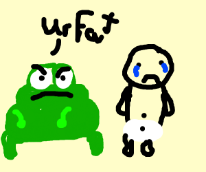 Frog insults babys