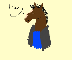 "blue-jack horseman says, ""like"""