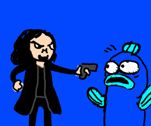 Guy in black threatening to kill Frisk