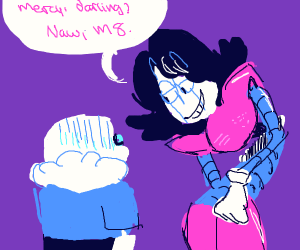 mettaton refuses to show sans mercy