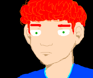 Man with Big Nose and Red Hair