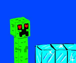 creepers love big hard diamond blocks!