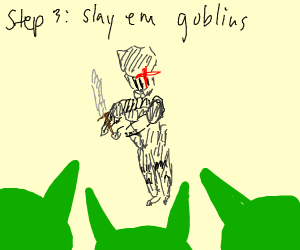 Step 2: Land in a country filled with goblins