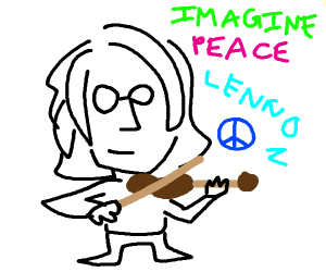 lennon plays the violin